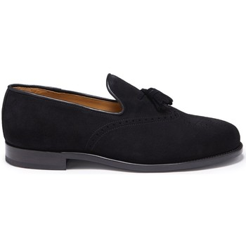 Chaussures Homme Mocassins Hugs & Co. Mocassins Brogue daim Noir