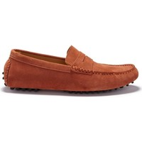 Chaussures Homme Mocassins Hugs & Co. Mocassins Penny Driving cuir fleur Rouge
