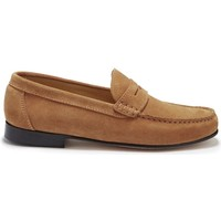 Chaussures Homme Mocassins Hugs & Co. Mocassins Penny en daim Tabac