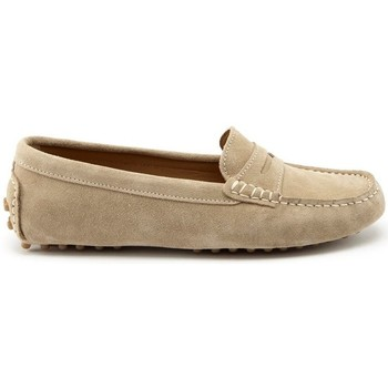 Chaussures Femme Mocassins Hugs & Co. Mocassins penny daim Taupe