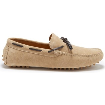 Chaussures Homme Mocassins Hugs & Co. Lacé Mocassins en daim Taupe