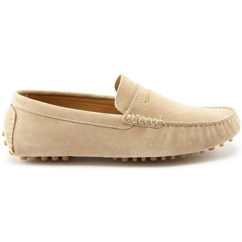 Chaussures Homme Mocassins Hugs & Co. Mocassins Penny Driving cuir fleur Taupe