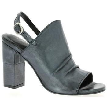 Chaussures Femme Sandales et Nu-pieds Pao Nu pieds cuir laminé Anthracite