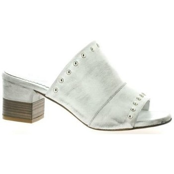 Chaussures Femme Claquettes Pao Mules cuir Blanc