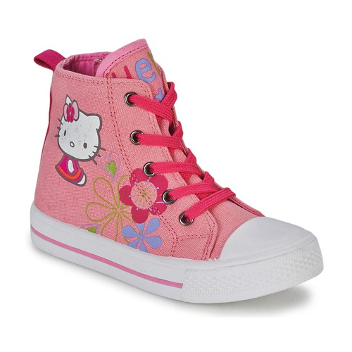 Chaussures Fille Baskets montantes Hello Kitty LONS Rose