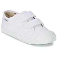 Chaussures Enfant Baskets basses Victoria BLUCHER LONA DOS VELCROS Blanc