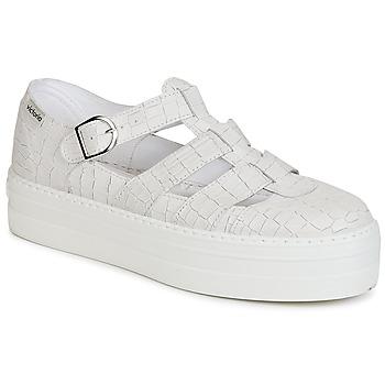 Chaussures Femme Sandales et Nu-pieds Victoria SANDALIA PIEL GRABADA COCO Blanc