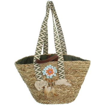 Sacs Femme Cabas / Sacs shopping Le Voyage En Panier Panier  ref_trop43637 Vert 57*30*20 vert