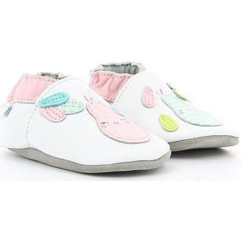 Chaussures Fille Chaussons bébés Robeez PEAR SUMMER BLANC OPTICAL