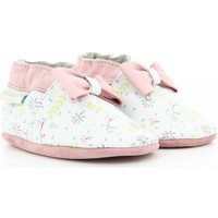 Chaussures Fille Chaussons bébés Robeez CUTE FLOWERS BLANC OPTICAL