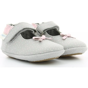 Chaussures Fille Ballerines / babies Robeez DOTTIES LIGHT GREY