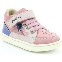 Chaussures Fille Baskets basses Kickers LYPSTER PINK WHITE PRINT