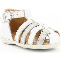 Chaussures Fille Sandales et Nu-pieds Aster OFILIE WHITE SILVER