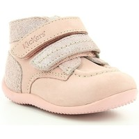 Chaussures Fille Boots Kickers BONKRO PINK WHITE PRINT