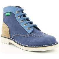 Chaussures Enfant Boots Kickers KICK COL BLUE/WHITE