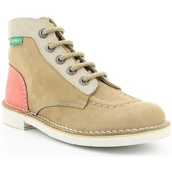 Chaussures Enfant Boots Kickers KICK COL OTHER BEIGE