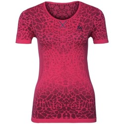 Vêtements Femme T-shirts manches courtes Odlo W Tshirt Mc Evolution Light Blackcomb Bordeaux
