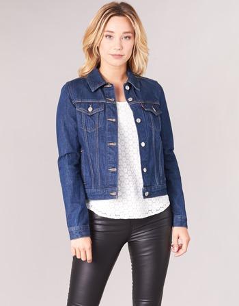 Femme Vêtements Levi's Brut Trucker Jean Vestes Bleu En Original mnNw80