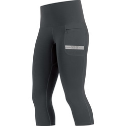 Vêtements Femme Leggings Gore Corsaire 3/4 AIR LADY black/silver Noir