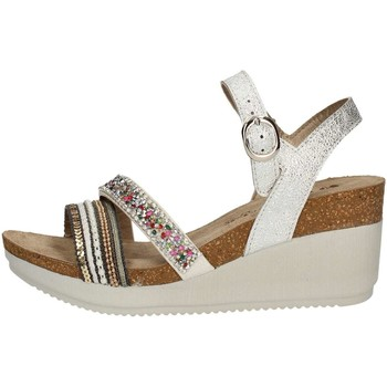 Chaussures Femme Sandales et Nu-pieds Inblu EN 8 D Chaussure avec la cale Femme Argent Argent
