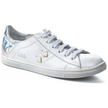 Chaussures Fille Baskets mode Achile Baskets fille  Paula Blanche blanc