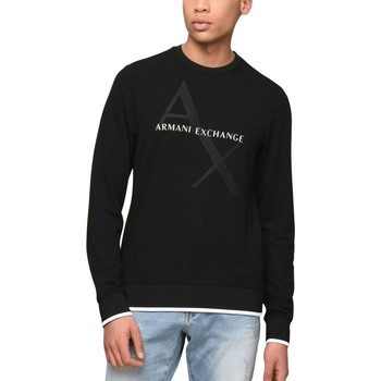 Vêtements Homme Sweats Armani Exchange SWEAT SHIRT COL ROND NOIR