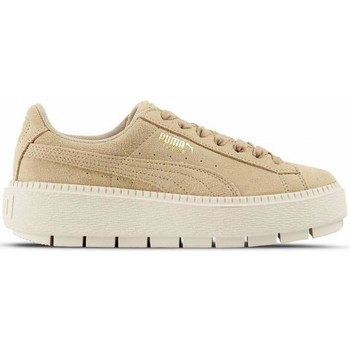 Chaussures Femme Baskets basses Puma - Suede Platform Trace Wn's - Safari/Marshmallow - 38,5 Beige