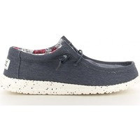 Chaussures Homme Chaussures bateau Hey Dude WALLY STRETCH bleu