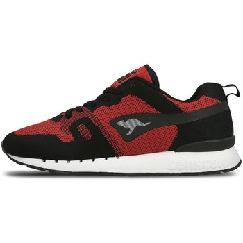 Chaussures Homme Baskets basses Kangaroos Omnicoil Woven Noir-Rouge