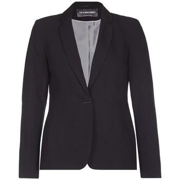 Vêtements Femme Vestes / Blazers Anastasia Veste de costume simple boutonnage pour femme Black