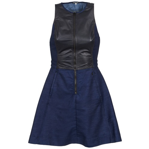 Robes G-Star Raw SUTZIL DRESS Marine / Noir 350x350