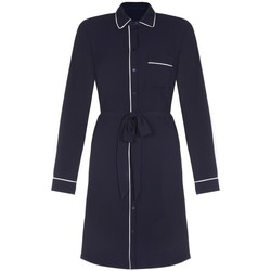 Vêtements Femme Trenchs Anastasia Robe chemise passepoilée pour femme Blue