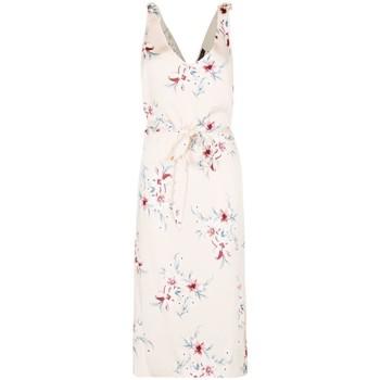 Vêtements Femme Robes longues Anastasia Robe d'été à fleurs en satin Beige