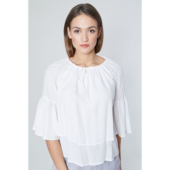 Vêtements Femme Tops / Blouses Click Fashion Chemisier model 115743 blanc