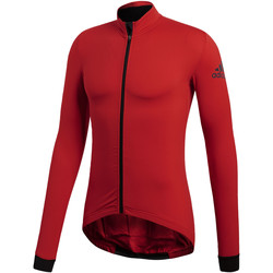 Vêtements Homme Chemises manches longues adidas Performance Maillot Climaheat Cycling Winter Rouge