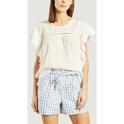 Vêtements Femme Tops / Blouses Leonie Top Monica 58221 Femme Collection Printemps Eté Blanc