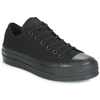 55c10810c77e6 Chaussures Femme Baskets basses Converse CHUCK TAYLOR ALL STAR CLEAN LIFT  MONO CANVAS OX Noir