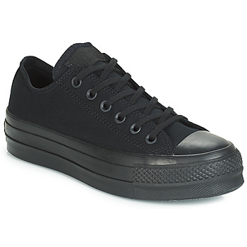 8bffc2b1c1189 Chaussures Femme Baskets basses Converse CHUCK TAYLOR ALL STAR CLEAN LIFT  MONO CANVAS OX Noir