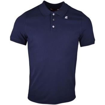Vêtements Homme Polos manches courtes K-Way Polo  bleu marine régular fit pour homme Bleu