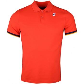 Vêtements Homme Polos manches courtes K-Way Polo  rouge régular fit pour homme Rouge