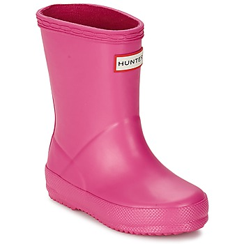 Chaussures Fille Bottes de pluie Hunter KIDS FIRST CLASSIC Rose
