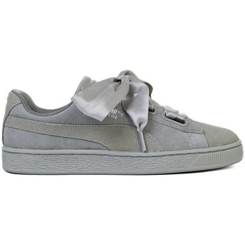 Chaussures Femme Baskets basses Puma Suede Heart Pebble Wns Gris