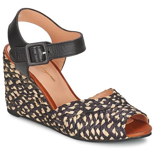 Robert Clergerie DISON Noir - Livraison Gratuite avec  - Chaussures Sandale Femme