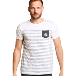 Vêtements Femme T-shirts manches courtes Biaggio T-shirt HOMME - METIKALO_OFF WHITE/ANTHRA Blanc