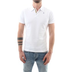Vêtements Homme Polos manches courtes K-Way K007270 Polo Homme Blanc Blanc