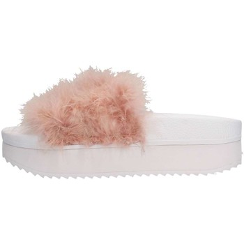 Chaussures Femme Mules The White Brand H-0055 Pantoufle Femme Rose Rose