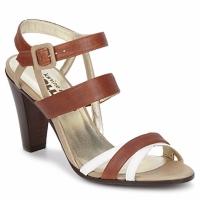 Chaussures Femme Sandales et Nu-pieds Karine Arabian JOLLY Cognac / Beige / Blanc