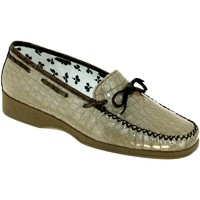 Chaussures Femme Mocassins Marco NICE Beige verni