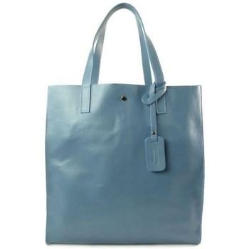 Sacs Femme Sacs porté main Vera Pelle Shopper Bag Błękit Ciemny Bleu