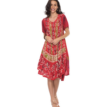 Vêtements Femme Robes courtes Couleurs Du Monde Robe PAOLA Femme Collection Printemps Eté Rouge